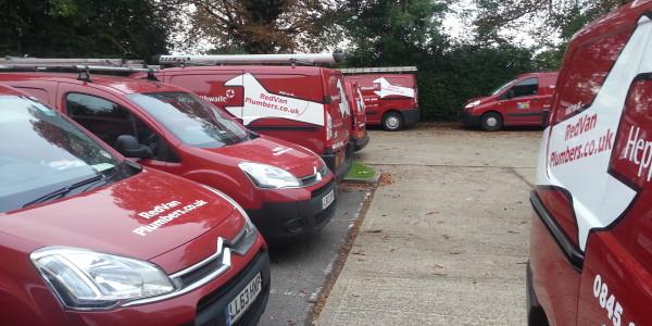 red van plumbers high wycombe