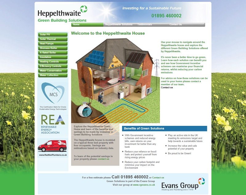 Screen Print of Eco Green Building Solution website